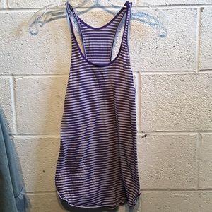 Lululemon purple and white striped tank 58386